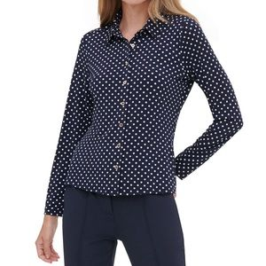 TOMMY HILFIGER Black Long Sleeve Collared blouse S
